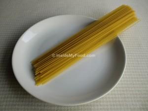 Raciones - Farináceos - Harinas y pastas - Espaguetis