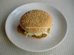 Raciones - Comida rápida - Hamburguesa de pollo rebozado