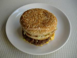 Raciones - Comida rápida - Hamburguesa grande