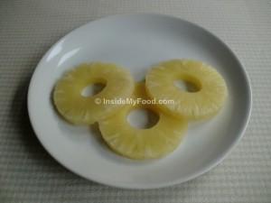 Raciones - Frutas - Frutas en conserva - Piña enlatada