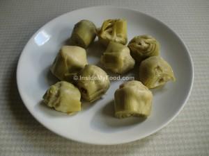Raciones - Verduras y hortalizas - Verduras y hortalizas congeladas o en conserva - Alcachofas en conserva